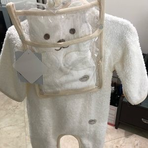Layette towel onesie